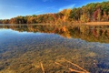 Picture transparency, river, autumn, nature