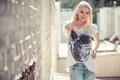 Picture style, model, skull, jeans, t-shirt, Katja Kalugina