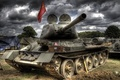 Picture flag, tank, victory