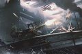 Picture assassin's creed, war, bridge, art, pulimet, the plane, London, Assassin's Creed: Syndicate, the city, syndicate