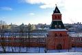 Picture beauty, winter, Russia, the Kremlin wall, Moscow, Russia, Tainitskaya tower, The Kremlin, panorama, Russia, the ...