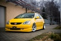 Picture honda, yellow, tuning, japan, low, fit, jazz, stance, jdm