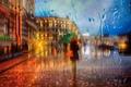Picture Saint Petersburg, umbrella, rain, girl