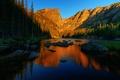 Picture beauty, blue sky, mountains, nature, trees, landscape