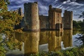 Picture Bodiam Castle, medieval, water