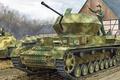 Picture APU, figure, art, Ausf. G, w/Zimmerit, Flakpanzer IV, German anti-aircraft self-propelled gun